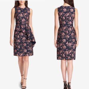 NWT Vince Camuto Jacquard Ruffle Floral Dress